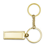 Golden key-chain on white background
