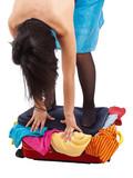 Woman suitcase