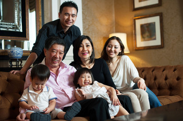 Asian Grandparents & Family