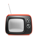 Green retro TV