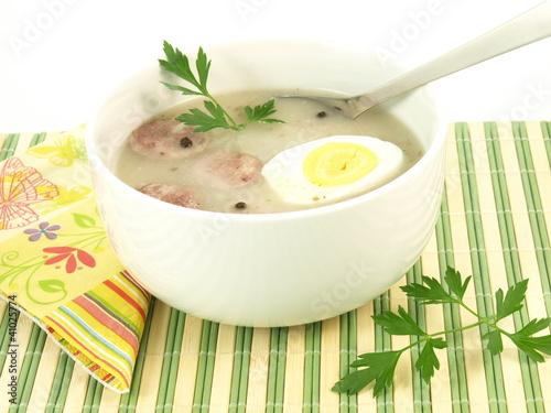 Polish soup, closeup - 41025774