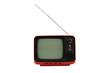 Old vintage red television