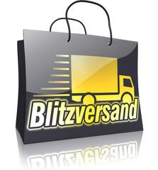 Black Line Shopping Bag: Blitzversand Gold