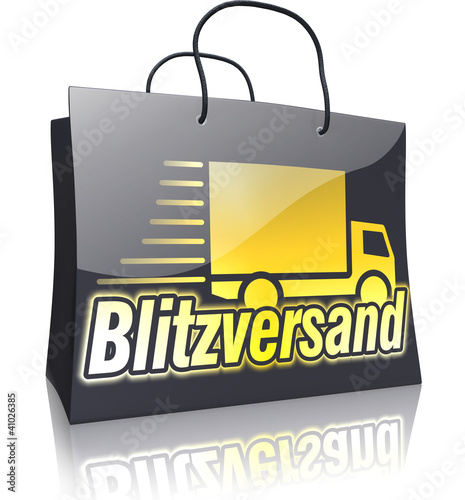 Black Line Shopping Bag: Blitzversand Gold