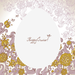 Easter floral background