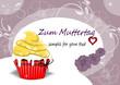 Karte zum Muttertag mit Muffin, Cupcakes