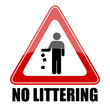 Vector sign no littering
