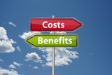 Costs vs. benefits poster