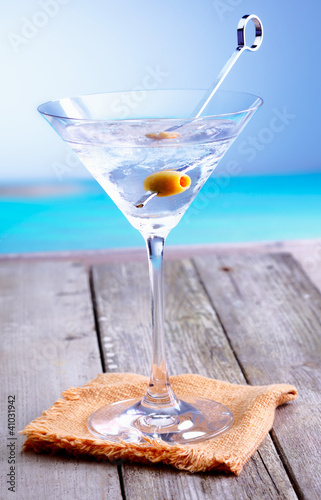 Refreshing martini cocktail
