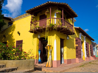 The touristic town of Trinidad in Cuba