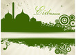A Green Vector Mosque Background.