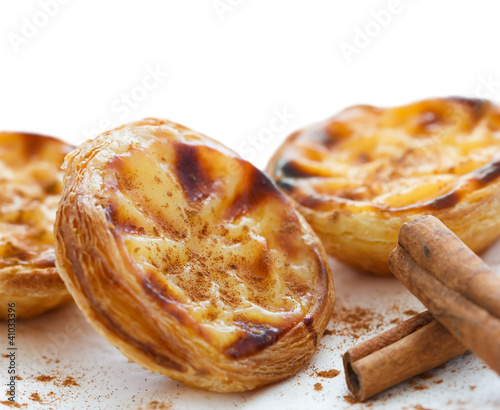 "traditional portuguese cakes - ""pastel de nata"""