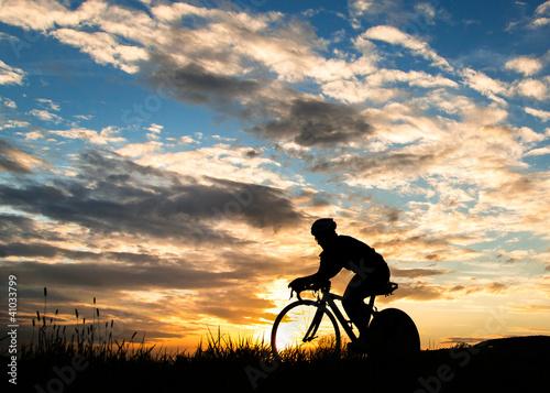 Zeitfahren auf dem Fahrrad