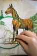 embroidery a dagger - a horse