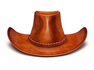 cowboy's leather hat stetson vector illustration isolated on