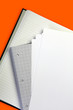 stationery orange background