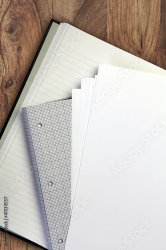 stationery wood background
