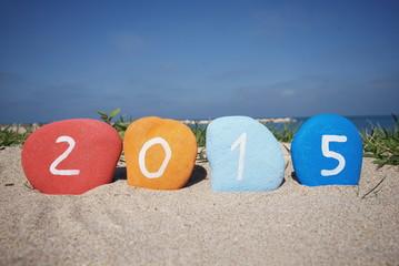 Happy 2015 on the beach