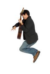 Guitar Player Jumping