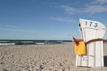 Strandkorb Meer Ostsee Urlaub