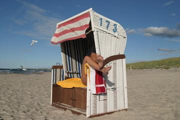 Ostsee Strand Strandkorb