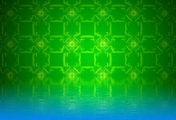 Pattern. Abstract background, fractal design over water reflecti