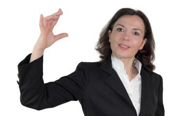 Geschäftsfrau präsentiert