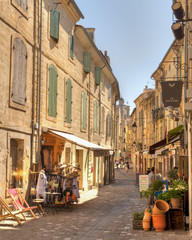 Narrow Winding street of Uzes France