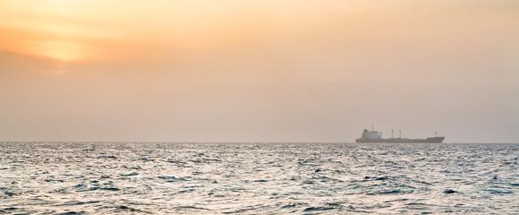orange sunset on Read Sea