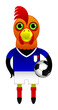 France Football Soccer Mascot Character
