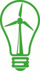 glühbirne glühlame windstrom strom windkraft windrad