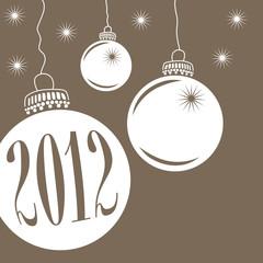 Christbaumkugeln Weihnachtsmotiv 2012