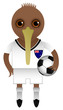 New Zealand Football Soccer Mascot Character