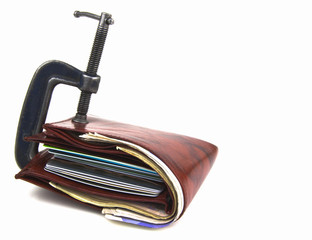 wallet trapped in G clamp