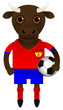 Spain Football Soccer Mascot Character
