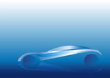 Deniz mavisi ve otomobil