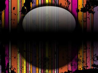 Glass Circle Background Stripes Black