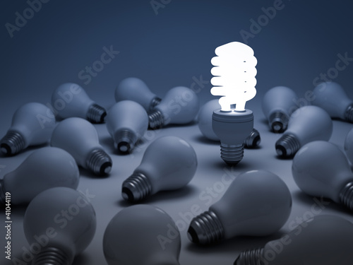 Eco energy saving light bulb, the different concept