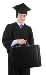 Graduate with a breifcase