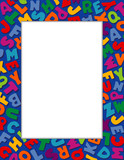 Alphabet Frame. Copy space for school, posters, fliers, daycare