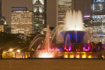 Buckingham Fountain at Night
