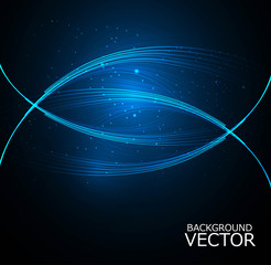 Abstract technology lines wave vector