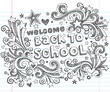 Back to School Sketchy Notebook Doodles Vector Design