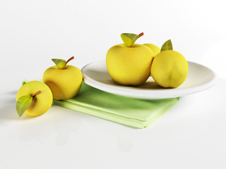 beautiful delicious apples on a plate