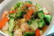 Fried shrimp and vegetables
