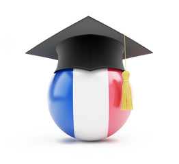 education in france graduation cap