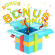 "Word ""bonus"" inside a gift box"