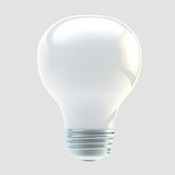 White electric bulb isolated
