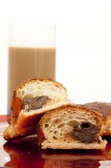 latte, caffe' e cornetto