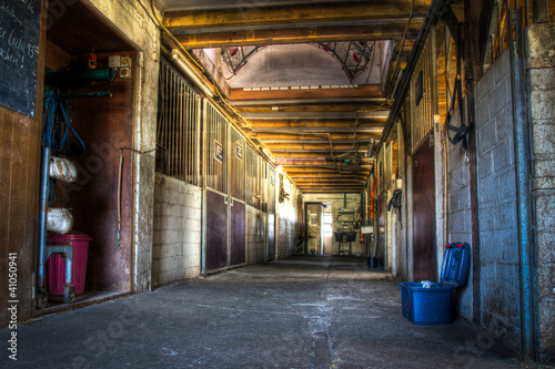 HDR shot of a riding stable